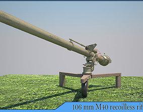 3D model 106mm M40 recoilless rifle