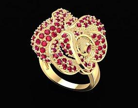 3D print model 1674 Diamond Rose Ring