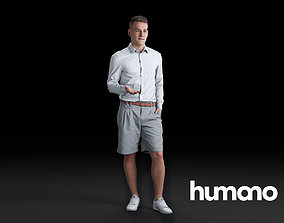 3D Humano Man standing and looking 0517