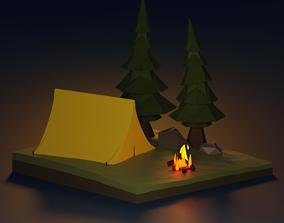 Camping 3D asset