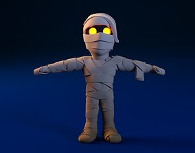 3D Cartoon Mummy Not Rigged