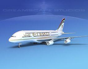 Airbus A380-800 Etihad Airways 3D