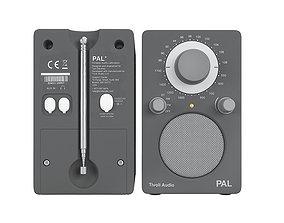 Tivoli audio PAL white and grey 3D model