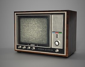 Retro- Vintage TV Type A 3D model realtime