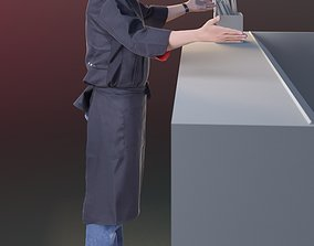 Kazuo 10168 - Standing Cook 3D model