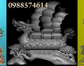 Dragon bost 3D model pendant-necklace