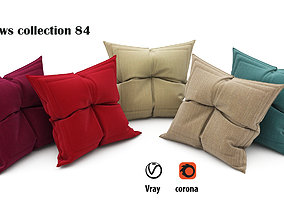 Pillows collection 84 bed 3D