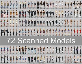 72 Scanned Models Female 3D asset