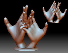 Hands couple in love 3D printable woved