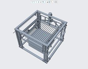 3D printable model block cutting machine
