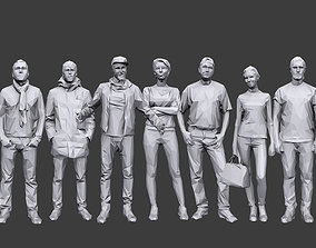 3D model Lowpoly People Casual Pack Volume 16