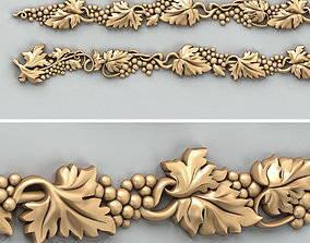 Carved decor horizontal 033 cnc 3D model