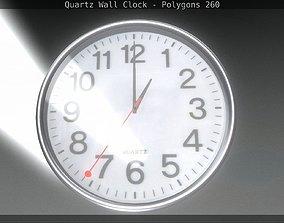 Quartz Wall Clock 3D model