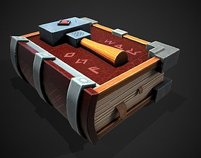 Stylized magic book 3D model low-poly