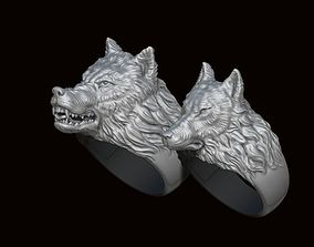3D print model Wolf ring pack
