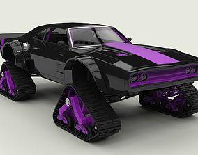 3D model Dodge Charger with Mattracks Suspension tracks