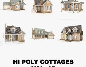 3D Hi-poly cottages collection vol 15 house