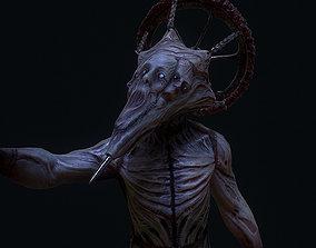 3D asset Conehead creepy horror enemy