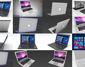 3D model Dell Vostro v13 and Apple MacBook Air