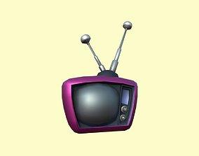 Cartoon TV 3D asset
