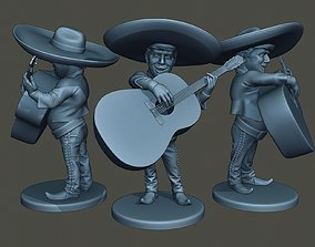 3D print model Donald Trump Mariachi Big Guitar