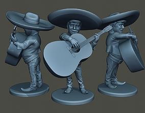 3D print model Donald Trump Mariachi Big Guitar