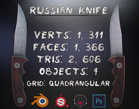 3D asset VR / AR ready Russian Hunting Knife