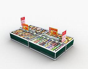 3D model Store Display Refrigerator Frozen Food