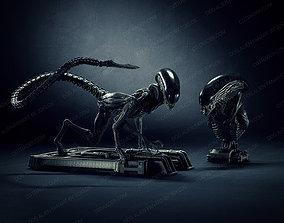 Dog Alien Crawling and BUST - fanart printable STL