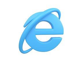 3D model Internet Explorer Logo v1 002