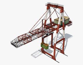 3D asset low-poly Port Container Crane