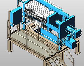Filter Press 3D model