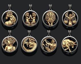 jewellery horoscope signes pack 3D printable model