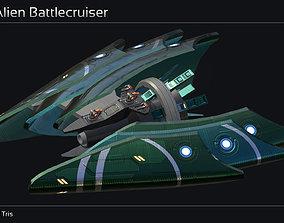 Ankla Alien Battlecruiser 3D asset