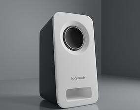 3D model White Logitech Desktop Speaker