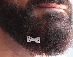 3D printable model Papillon for beard - front wearing