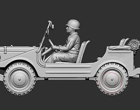 3D printable model 1 to 56 DKW Munga - open - folded 3