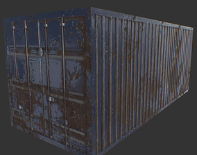 Container LowPoly 3D asset