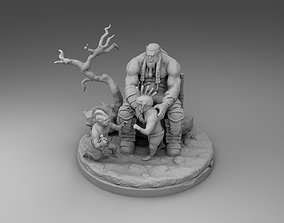 3D print model Orc with children