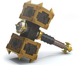 Battle hammer 3D print model