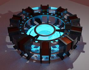 iron man - arc reactor 3D asset
