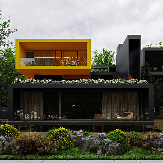Villa Yellow cube