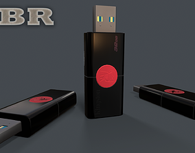 Memory card - Kingston 32GB PBR flashdrive 3D asset