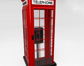 Phone booth 3D asset
