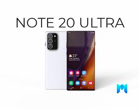 Samsung Galaxy Note 20 ultra 3D model