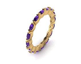 3D print model Marquise Shape Diamond Ring