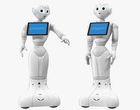 Pepper Robot Rigged for Cinema 4D 3D model