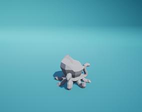 Statue Octopus Ruined 3D asset