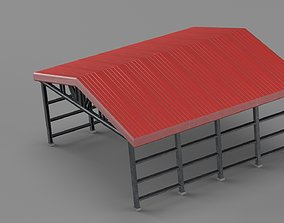 3D model Industrial canopy roof
