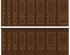 Wood panels with veneer 010 3D model
